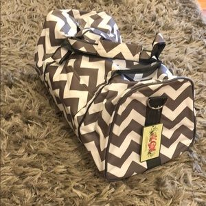 n.gil Bags - NWT chevron duffel bag by n.gil